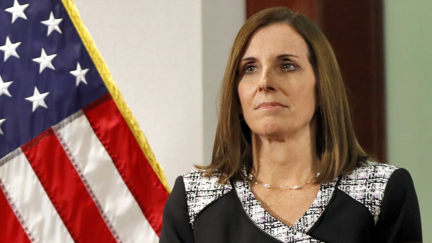 Sen. Martha McSally, R-Ariz., testified on Wednesday that she was raped while serving in the Air Force.