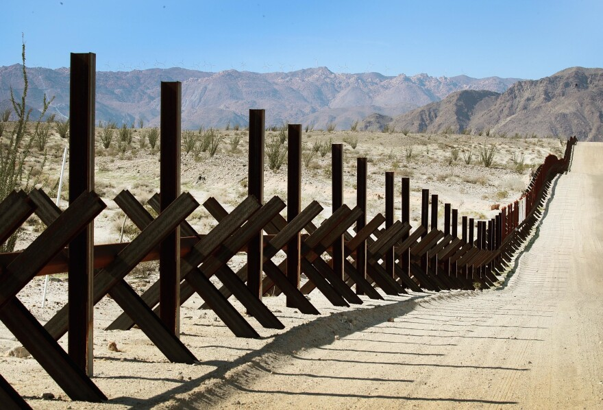 A steel barrier runs along the U.S.-Mexico border near Calexico, Calif. Bipartisan negotiators on Capitol Hill are discussing what kind of physical barriers are needed and how much Congress should spend to address national security issues at the Southwest border.