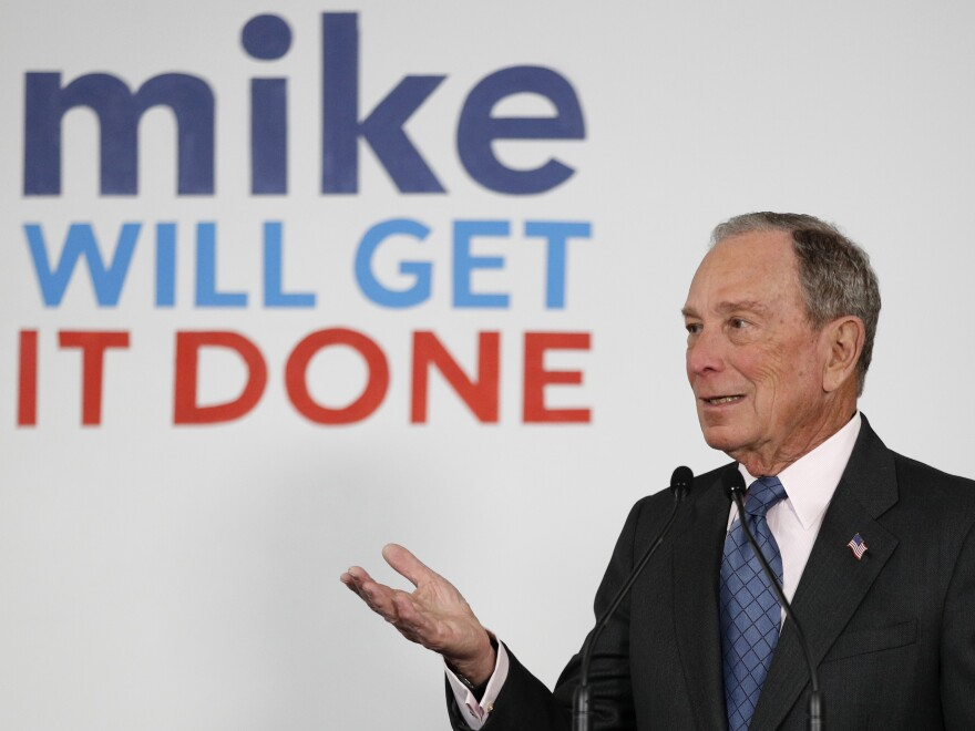 Despite not participating in the early contests, Bloomberg has already become a Twitter target of the president.