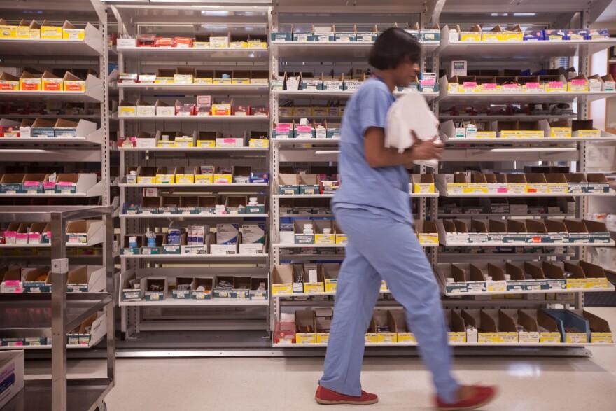 The pharmacy at Newton-Wellesley Hospital.
