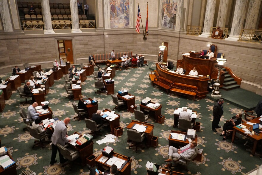 The Missouri Senate, seen here in finishing up work on the state budget in May, has decided to postpone the special legislative session until after the Thanksgiving holiday due to positive cases of the coronavirus.