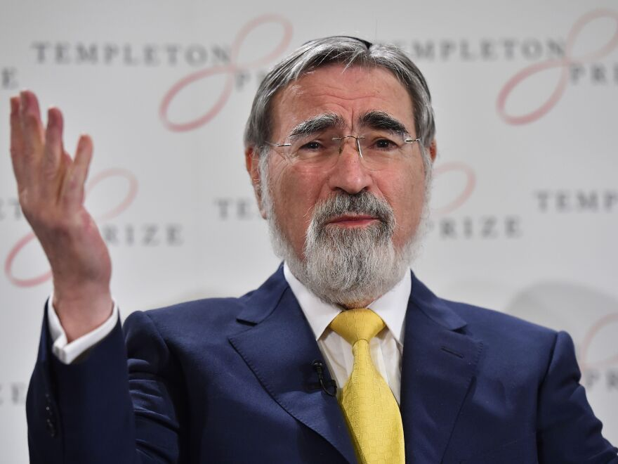 Religious leader and philosopher Rabbi Lord Jonathan Sacks was the former chief rabbi of the U.K. He has died at the age of 72.