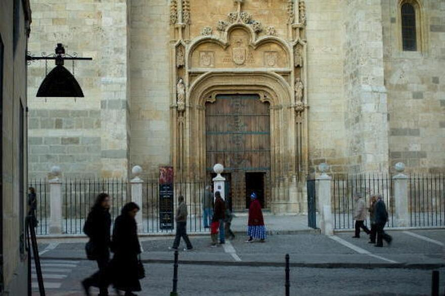 The Cathedral of Alcala de Henares is one of many buildings owned by the Catholic Church in Alcala de Henares, Spain. The town, which is outside Madrid, is broke and is pursuing a plan to have the church pay additional taxes.
