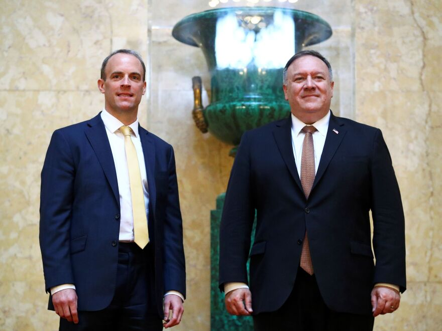 British Foreign Secretary Dominic Raab hosted his U.S. counterpart, Mike Pompeo, on a visit to London on Tuesday. During a joint news conference, Raab took issue with the report's findings.
