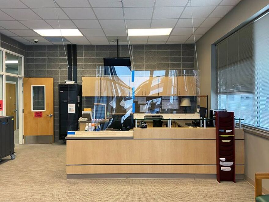 Plexiglass installed at Comal ISD's Goodwin Frazier Elementary to protect from COVID-19.