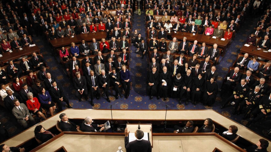 President Obama delivers last year's State of the Union Address on Jan. 25, 2011.