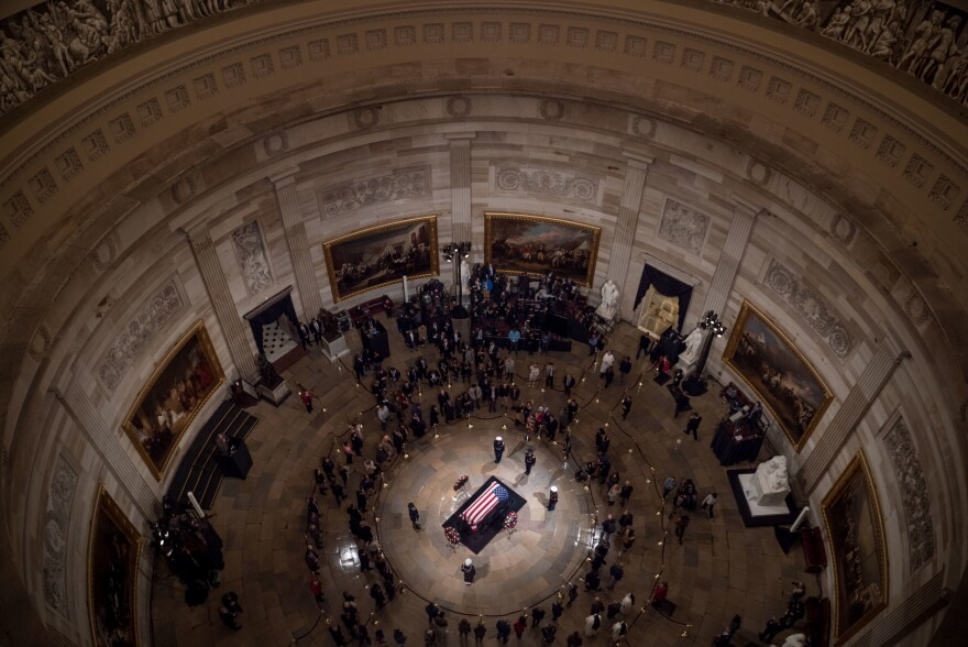 Following the funeral in Washington on Wednesday, Bush's casket will be returned to Houston, where a private service is scheduled for Thursday.