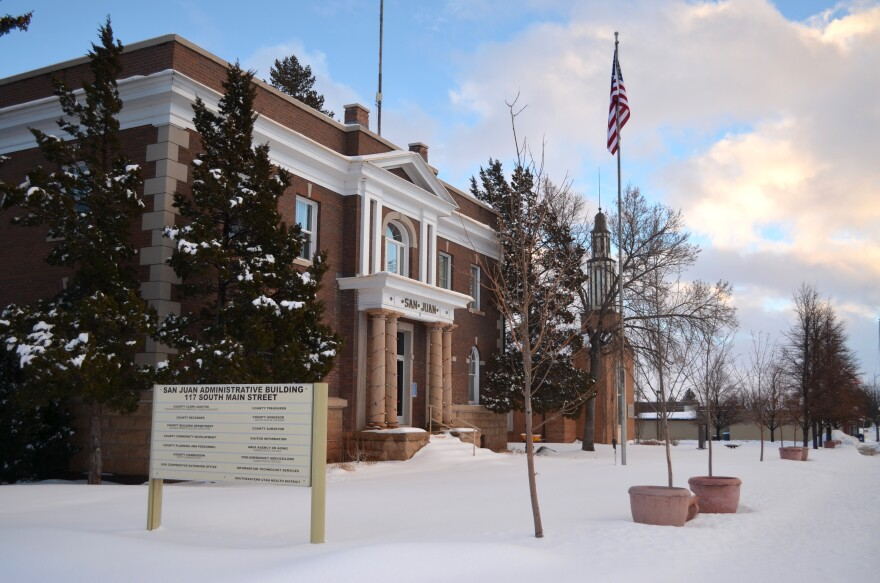 Photo of County building.