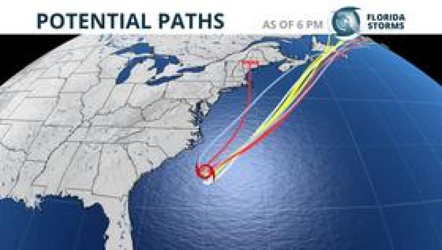 Tropical Storm Chris is likely to become a hurricane by Tuesday, but also expected to stay offshore.