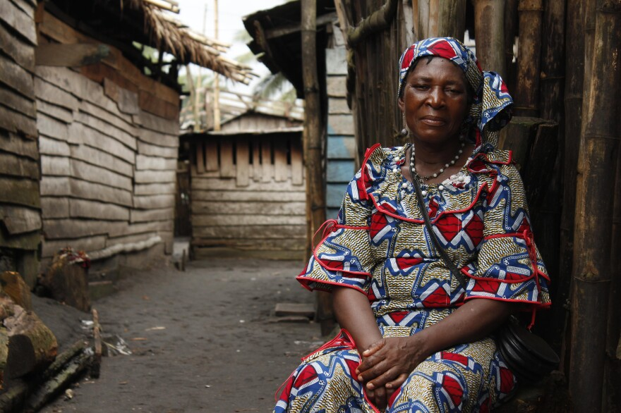 Rosine Mbakam hopes her films challenge viewers to align themselves with the experiences of women like her mother (pictured above), who she says are usually excluded from mainstream media.