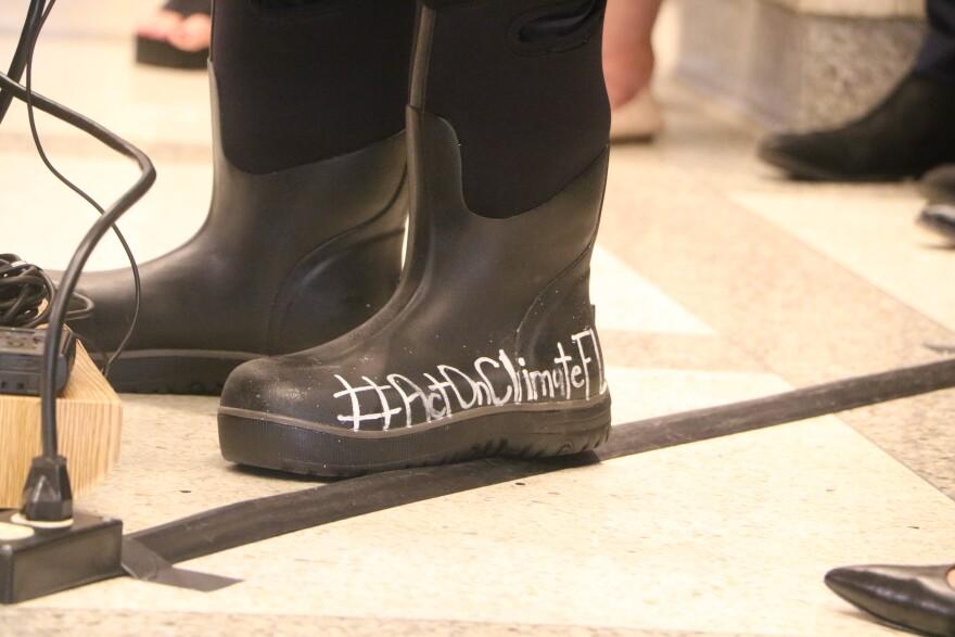 Democratic Florida Senator Jose Javier Rodriguez will again wear rain boots during the 2020 legislative session to highlight climate change concerns.