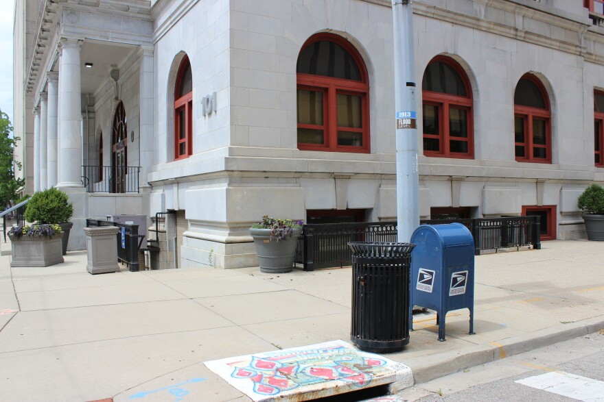 Several postal service mailboxes in downtown Dayton, including one outside City Hall, have notices saying they will be removed because not enough mail is being collected at those locations.