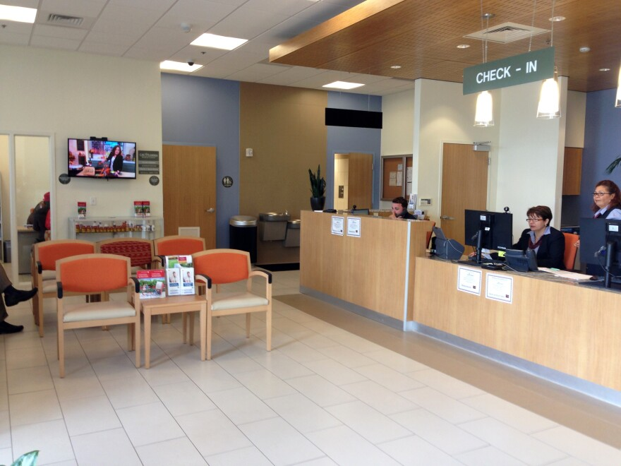 The waiting room at the medical clinic at the CAC.
