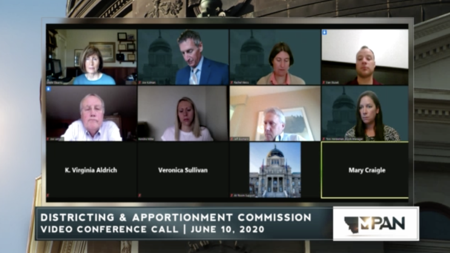 The Montana Districting and Apportionment Commission discusses 2020 Census return rates on June 10.
