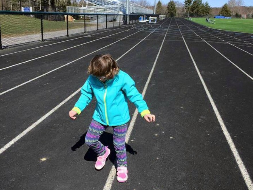 "Tess Bigelow stomps it out on the track where she<a href=""http://www.portlandrootsmedia.com/strongerpodcast/2016/5/4/68-special-is-an-understatement"" target=""_blank""> prepares to compete </a>in the Special Olympics."