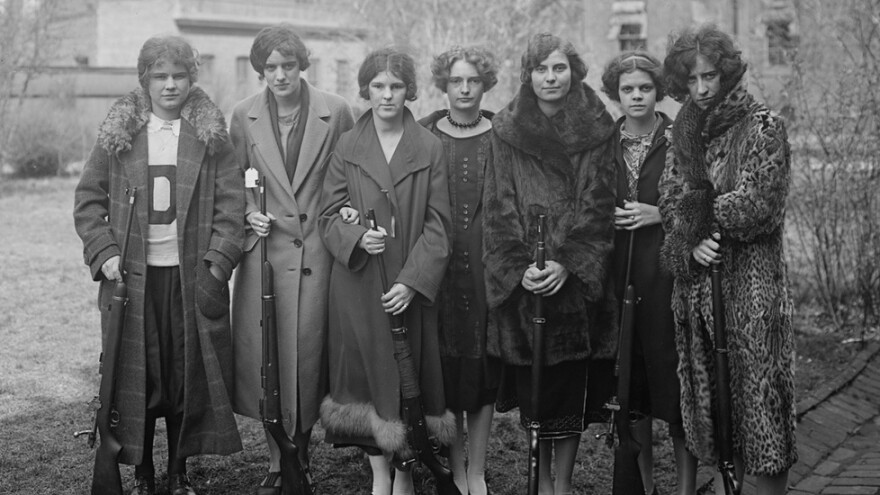 A group of young women pose for a picture in a still from the documentary <em>Teenage,</em> a film that explores the evolution of young adulthood in America and abroad.