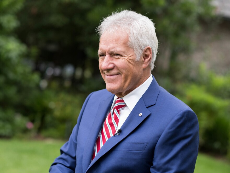 """Alex Trebek said in an interview with <em>People</em> magazine that his stage 4 pancreatic cancer is in """"near remission."""""""