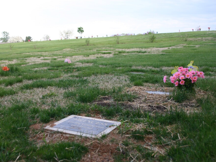 A pet burial site in Mountain View Cemetery in Vinton, Va. Virginia joins a growing number of states where cemeteries are allowed to create special pet-human burial sections.