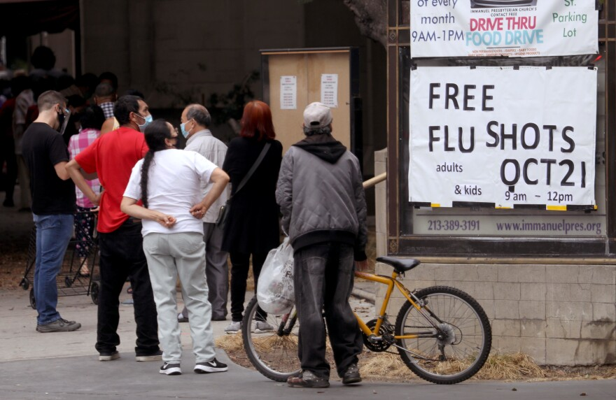 Last year, a record number of people got flu shots. But medical experts say kids keeping their social distance during the coronavirus pandemic has made the biggest difference for a mild flu season.