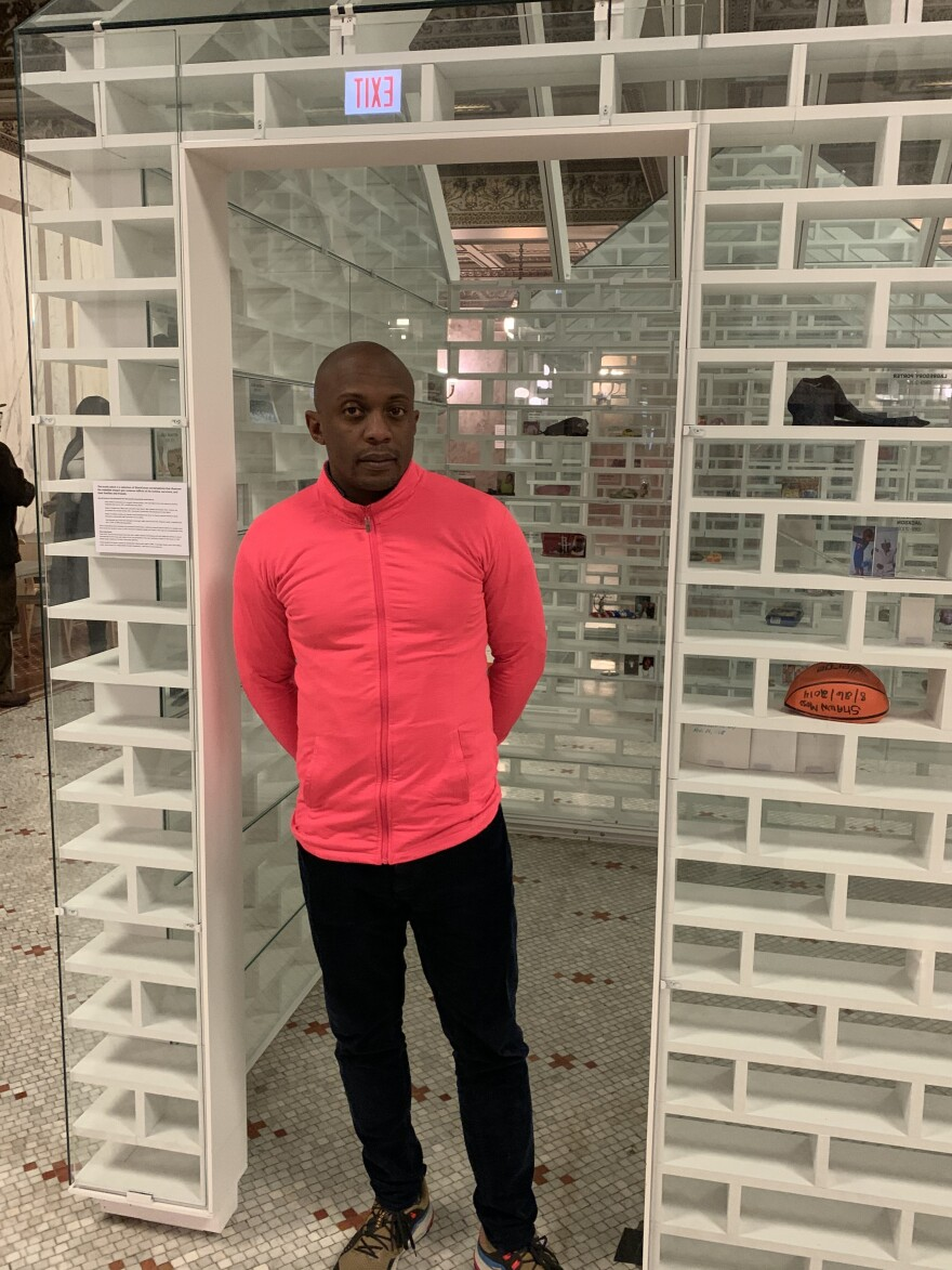 Artist Hank Willis Thomas partnered with Mass Design Group to create an architectural symbol of gun violence in the country while honoring its victims.