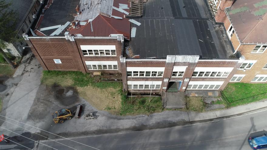 The former Northfork High School building.