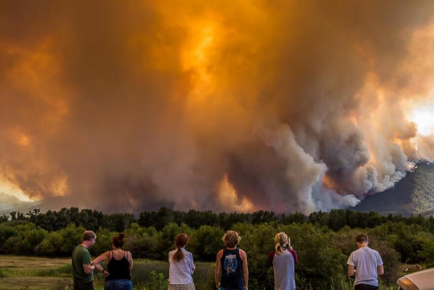 The Roaring Lion Fire near Hamilton on August 1, 2016