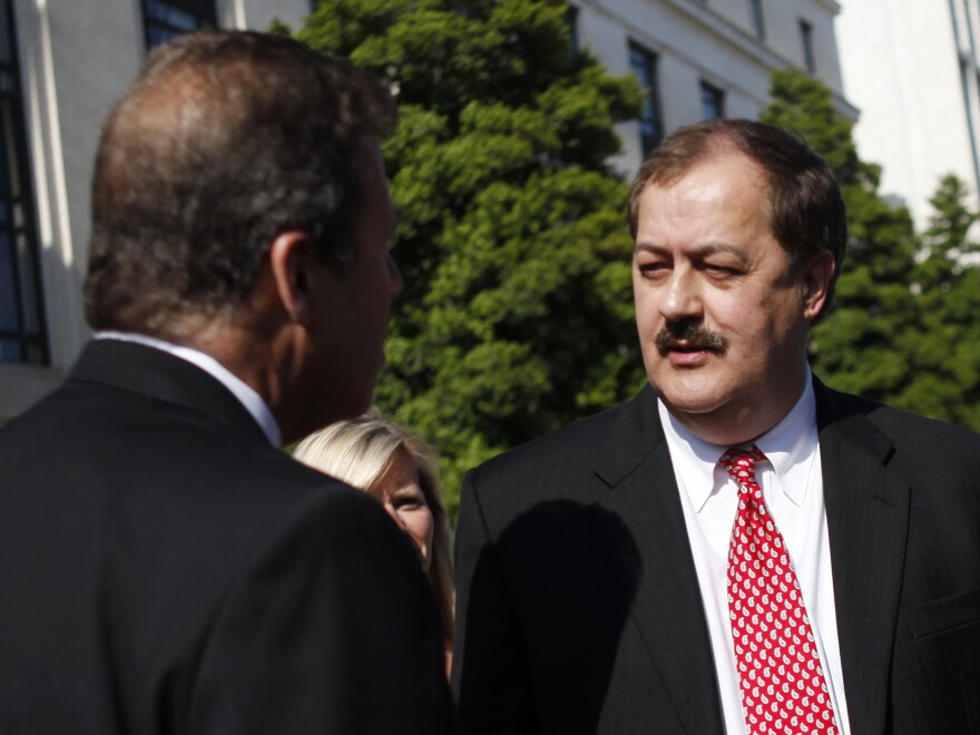 Massey Energy CEO Don Blankenship leaves a Senate Health and Human Services subcommittee hearing in Washington, D.C., on May 20, 2010, after answering questions about mine safety.