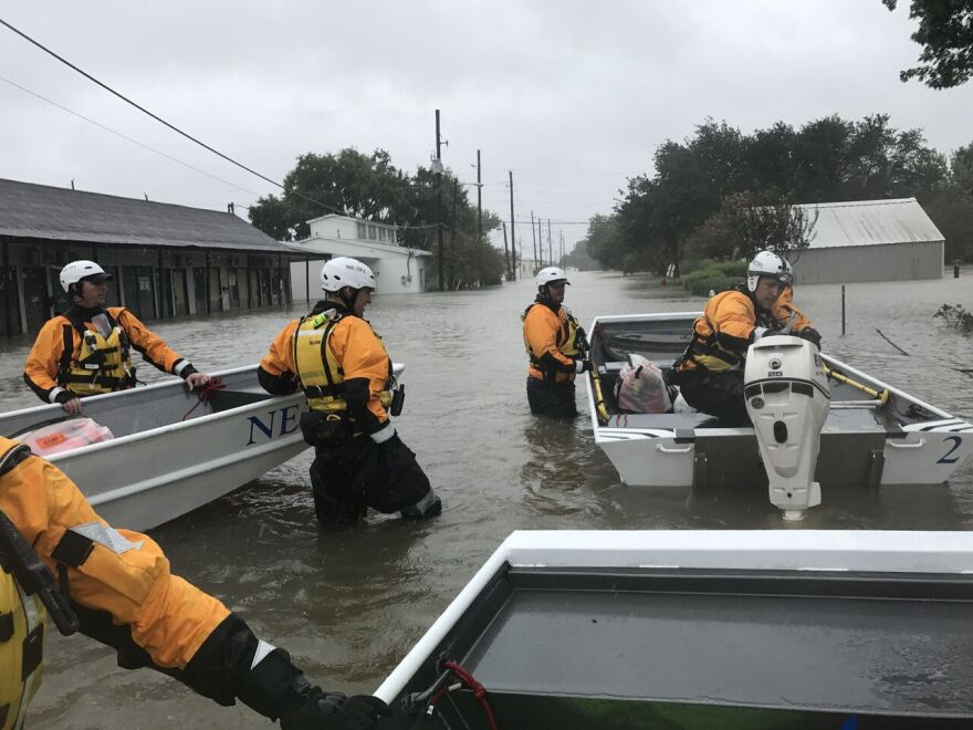 Nebraska Task Force 1 working to respond to the effects of Hurricane Harvey in southern Texas.
