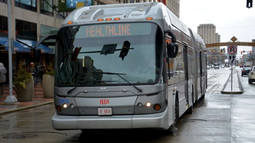 a photo of a Greater Cleveland RTA bus