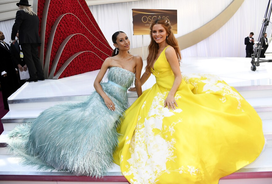 Elaine Welteroth, left, and Maria Menounos, right