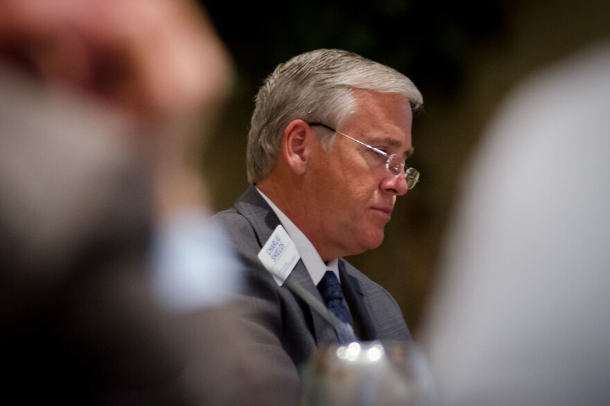 Missouri State Board of Education President Charlie Shields, at a meeting earlier this year, was among several board members at Tuesday's meeting who questioned whether provisionally accredited districts should be reviewed and measured differently.
