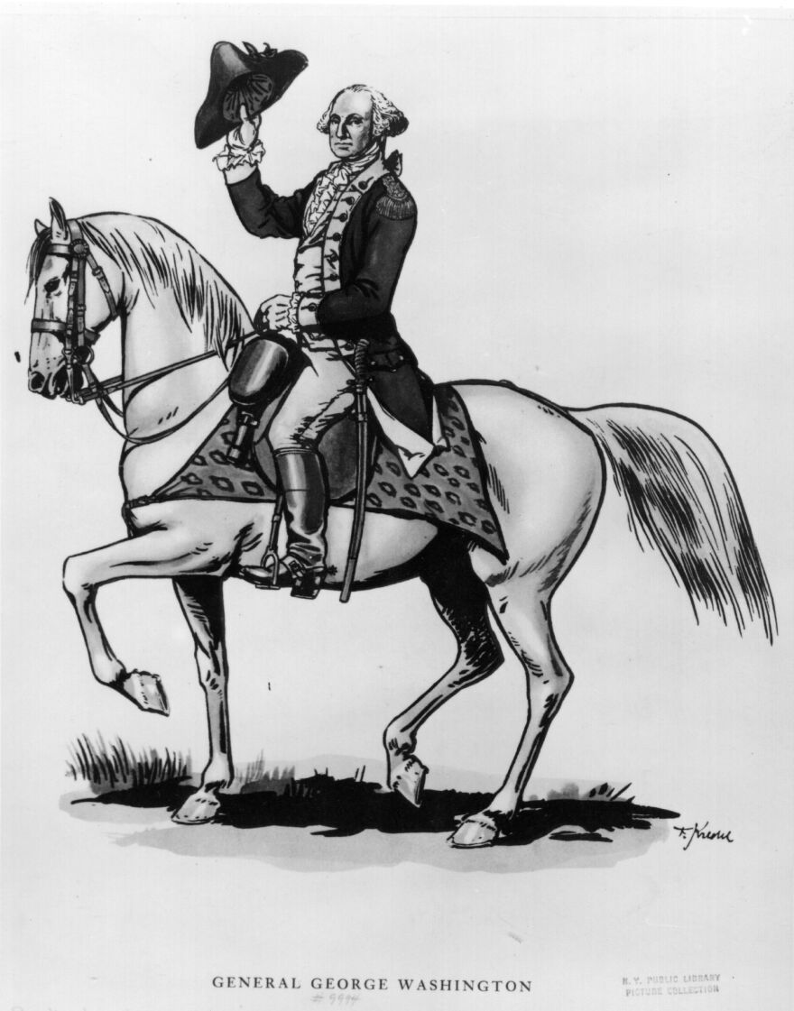 We don't know if George Washington was saying hello or goodbye in the above portrait, circa 1789. But John Avlon says the first president had one very important goodbye as he left office; Avlon's new book is called <em>Washington's Farewell: The Founding Father's Warning to Future Generations.</em>
