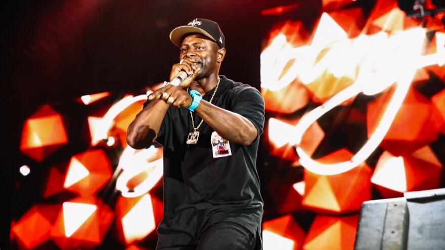 DJ Jubilee onstage Friday night.