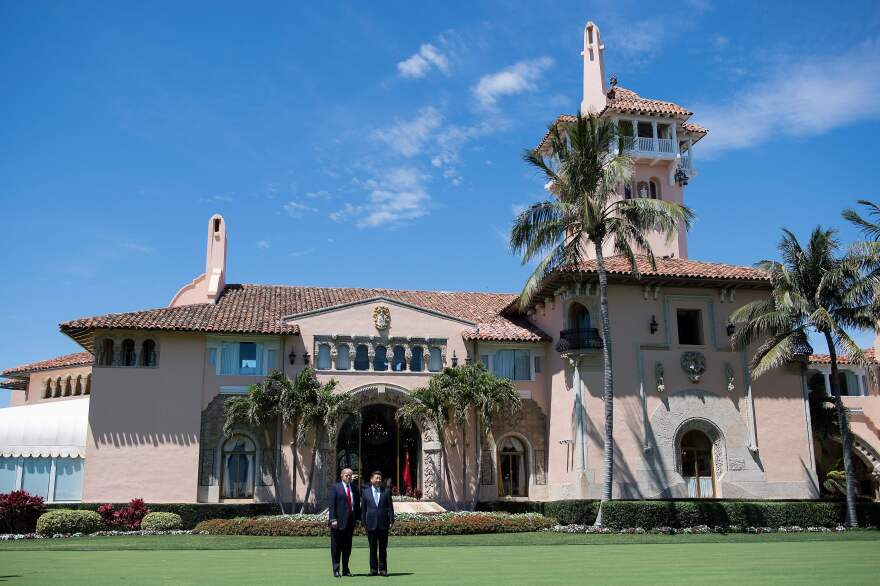President Trump meets with Chinese President Xi Jinping at the Mar-a-Lago in Palm Beach, Fla., on April 7. Not all of the president's visitors are made public; advocates want to change that.