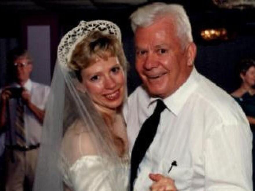 Barbara Mancini with her father, Joseph Yourshaw.