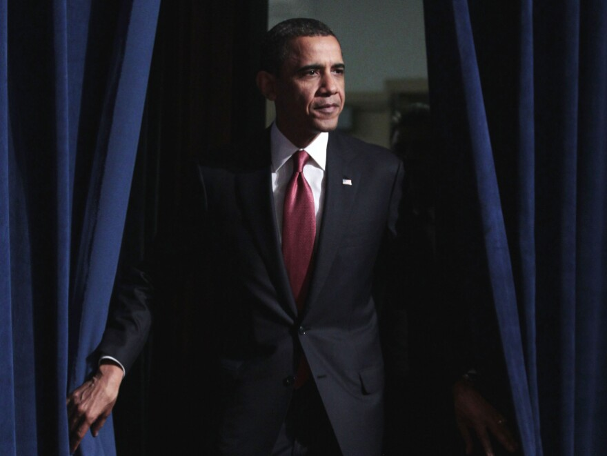 President Barack Obama is introduced before delivering remarks at the National Council of La Raza (NCLR) annual conference luncheon in Washington, Monday, July 25, 2011.