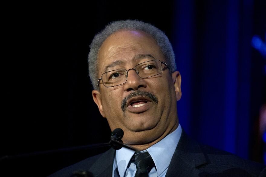 Rep. Chaka Fattah Sr., D-Pa., speaks in Philadelphia on May 7.