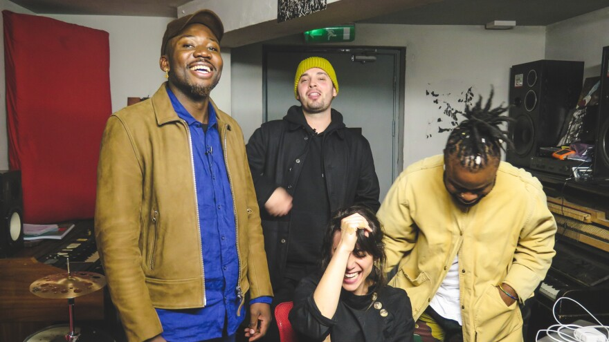 One of the highlights of <em>World Cafe</em>'s recent Sense of Place: Edinburgh trip was being welcomed into the tiny basement studio of Young Fathers where the trio made the incredibly inspired record <em>Cocoa Sugar.</em>