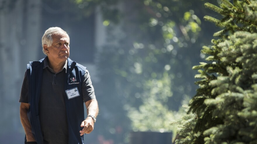 Les Moonves, former CEO of CBS Corp., attends a conference in Sun Valley, Idaho, on July 11. Moonves was ousted in September after several women accused him of harassment and sexual assault.
