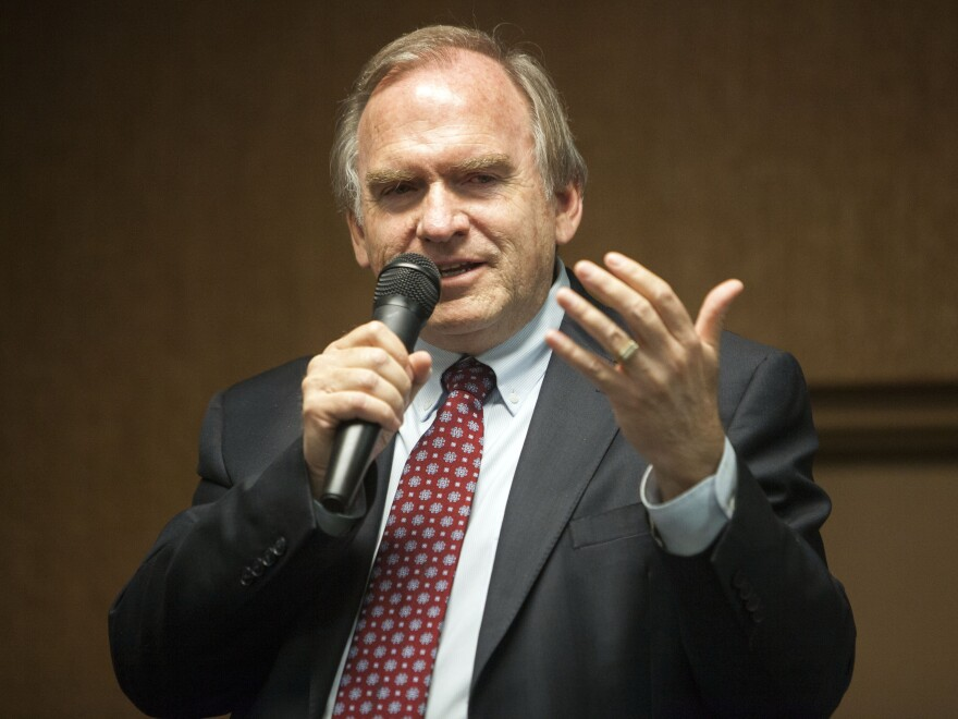 New Mexico gubernatorial candidate Gary King speaks at an event in Albuquerque.