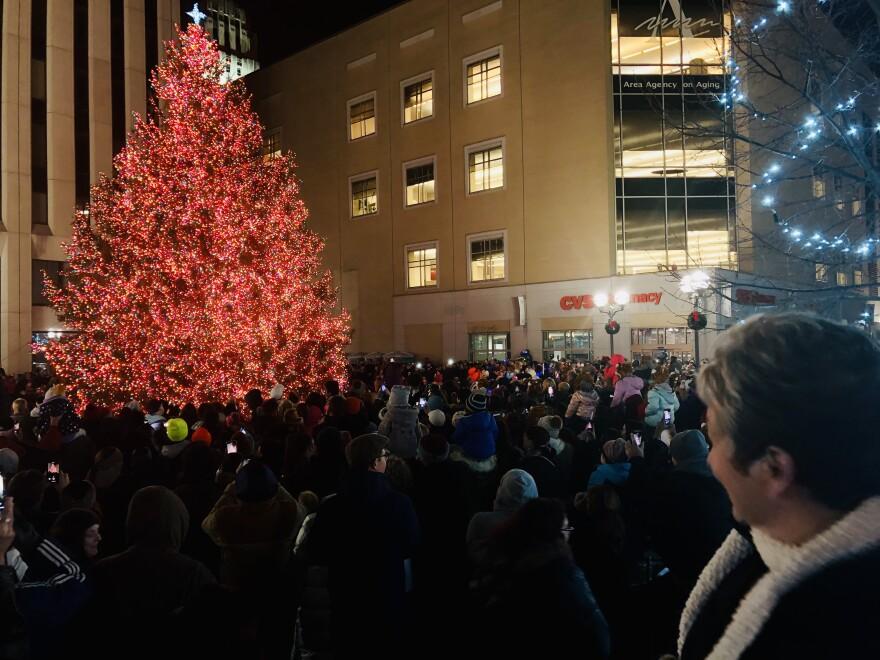 Downtown Dayton's Grande Illumintation kicks off the holiday season.