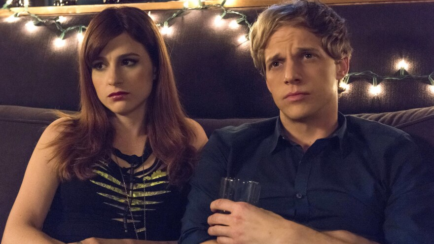 Gretchen (Aya Cash) is a self-centered music publicist who falls in love with Jimmy (Chris Geere) in the FXX series <em>You're the Worst.</em>