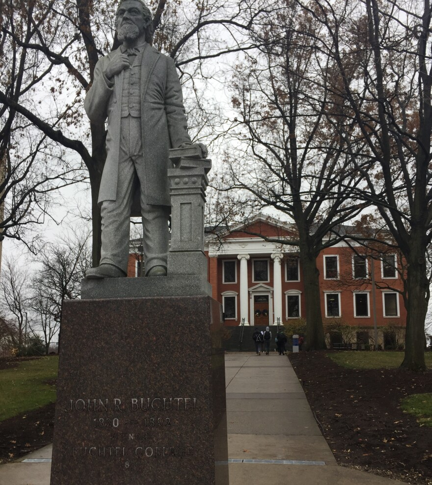 John Buchtel statue