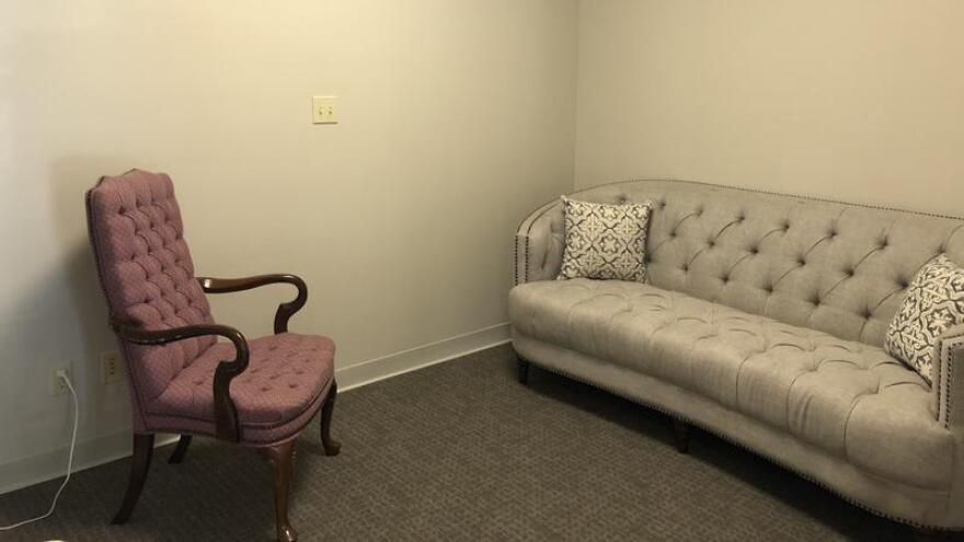 The center has several waiting rooms which will soon be curated with art from Jacksonville University.