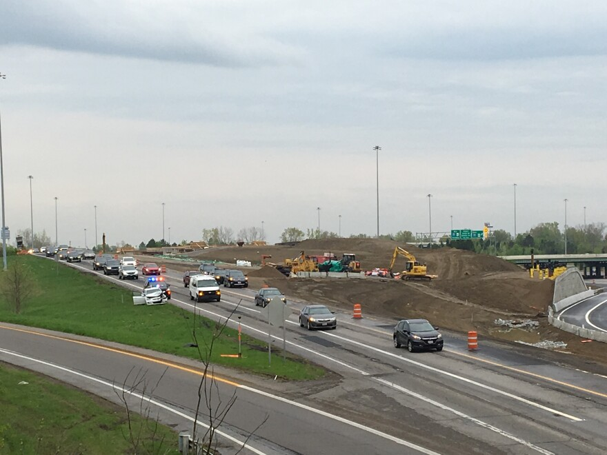 In 2019, backups happened often at I-270 and I-670 in Columbus, where ODOT was redesigning the merge of those freeways.
