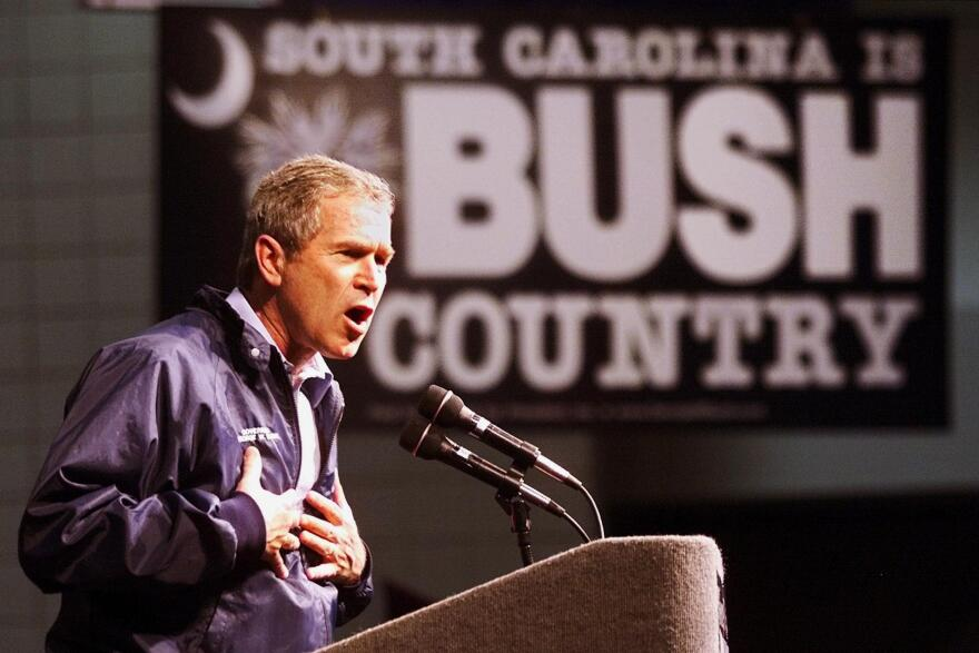 George W. Bush in Florence, S.C., ahead of the state's 2000 primary. Bush's victory there gave his campaign a critical boost.