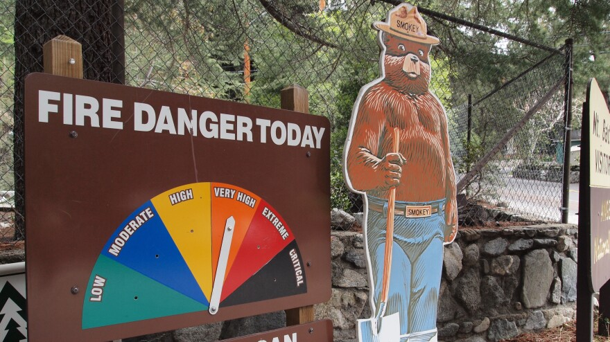 """Because of the dry conditions, the Angeles National Forest in Southern California is experiencing """"very high"""" fire danger."""