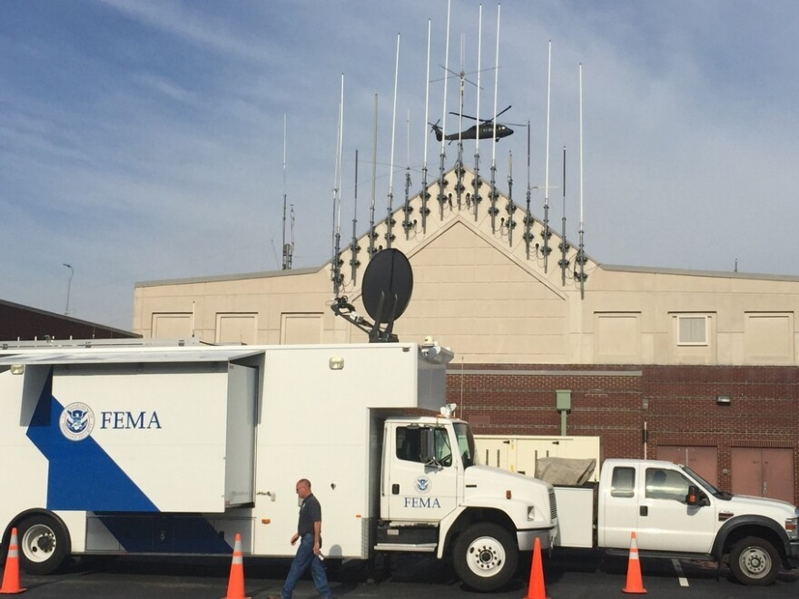 FEMA trucks in South Carolina