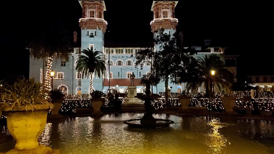 St. Augustine's City Hall is pictured during Nights of Lights.