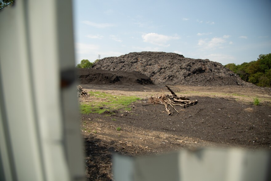 Shingle Mountain, a more than 70,000-ton toxic waste dump towers over the community of Floral Farms in southeast Dallas.